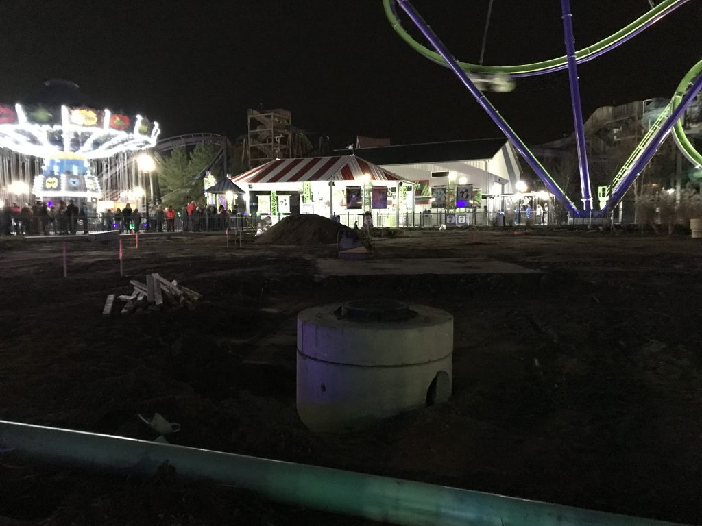 Harley Quinn Area During Construction