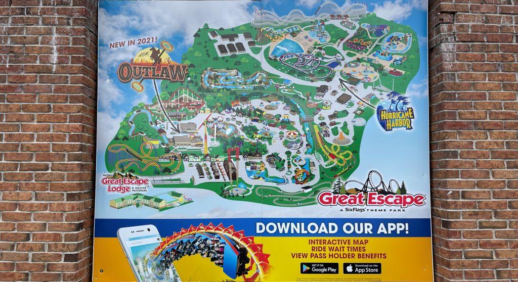 2021 Six Flags Great Escape Park Map