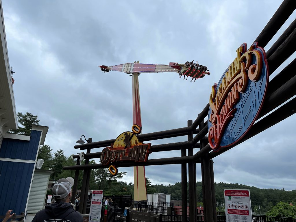Adirondack Outlaw Entrance with Ride In Action