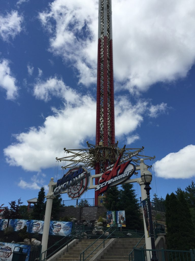 Stairs to Wicked Cyclone & New England SkyScreamer