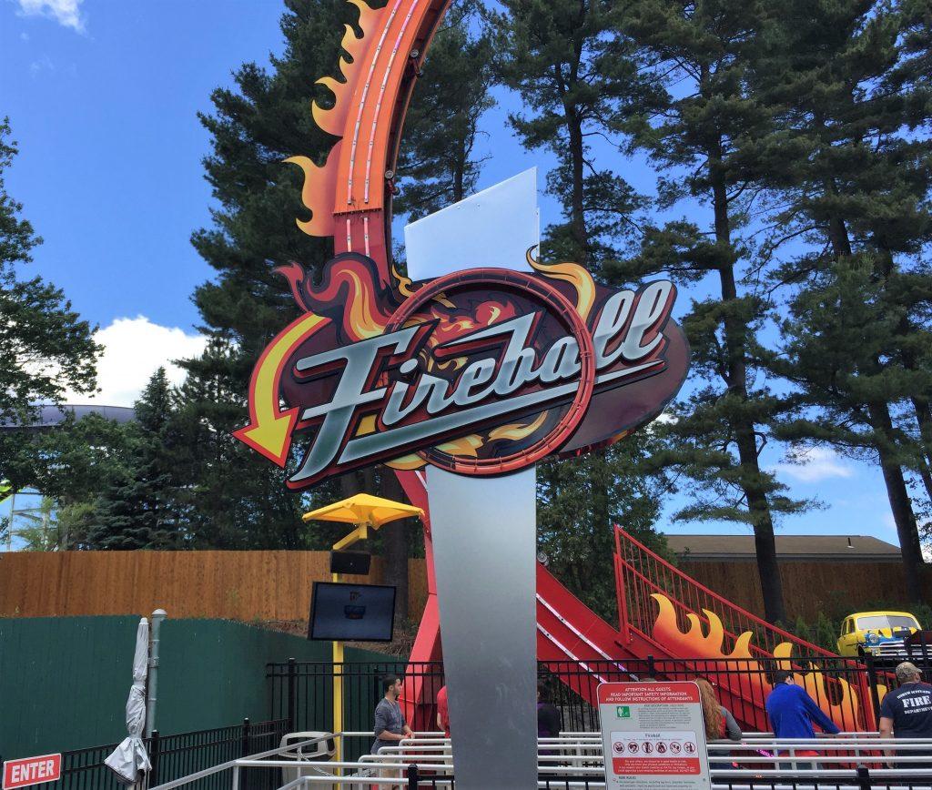Fireball Ride Sign