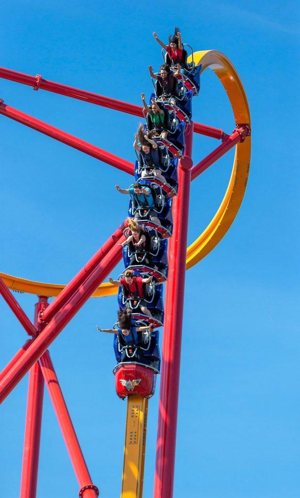 Wonder Woman Golden Lasso Coaster 90° First Drop