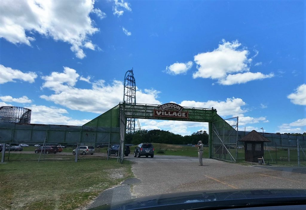 Entering Baboon Village at Six Flags Great Adventure Wild Safari